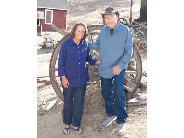 From left, Toni and Chuck Miltenberger pose in Mentryville.