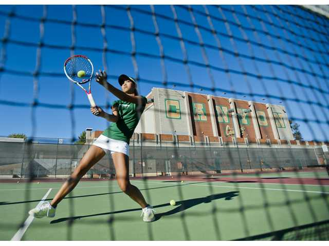 Canyon sophomore Katrina DeGuzman made herself known in the Foothill League last year when she finished surprisingly well in the annual Fall Brawl.