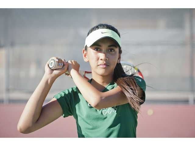 Canyon's Katrina DeGuzman has competed well against some of the top singles players in the Foothill League.