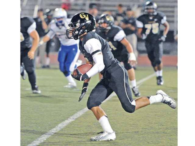 Golden Valley running back Terry Tamura is second in the Foothill League in rushing yards thus far.