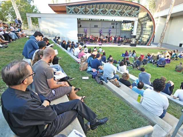 "Dozens of attendees listen to the music of Antonio Vivaldi as performed by CalArts student musicians during ""The Right of Seasons"" performance at the Herb Alpert School of Music at CalArts as part of The Wild Beast Concert Series at CalArts in Valencia on Saturday."