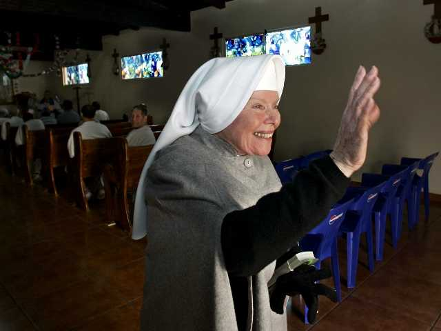 In this Dec. 15, 2005 file photo, Sister Antonia Brenner in 2005. Brenner died at age 86 after a long illness. She left a life of privilege to become a nun and lived in a notorious prison.