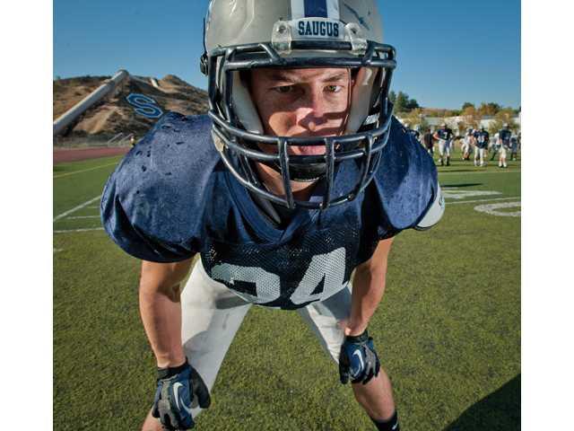 Saugus senior linebacker Blake Austin is the son of former Canyon High football great Randy Austin.