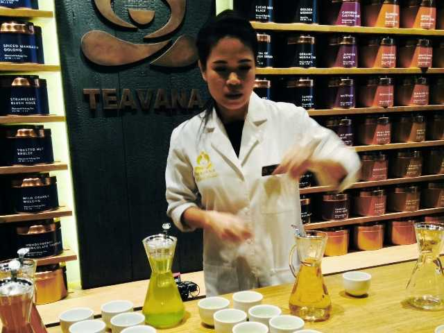 Starbucks opened a new 'tea bar,' Teavana, in New York.  The company says it plans to make tea popular in the U.S. as coffee.