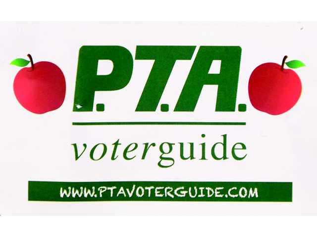 "This logo for the ""Parent Teacher Action Voter Guide"" appeared on a mailer that was recently sent out to people in the Santa Clarita Valley."