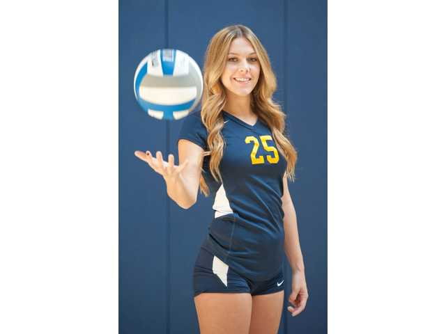 College of the Canyons sophomore Cassidy Fitzpatrick is the captain of the school's volleyball team which is off to a 14-3 start.