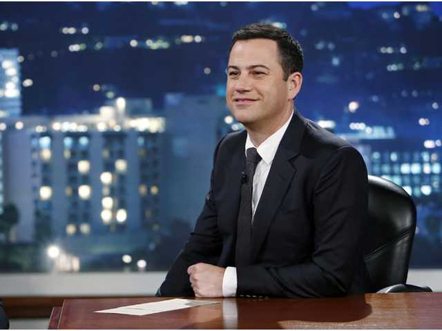 "This July 3 photo released by ABC shows Jimmy Kimmel on ""Jimmy Kimmel Live."""