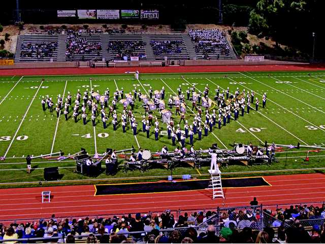 The West Ranch High School marching band performs at Saturday's Hart Rampage marching band tournament in Cougar Stadium at College of the Canyons. Courtesy photo