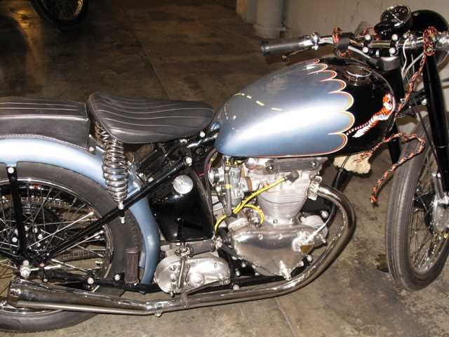 A recently recovered a 1953 Triumph motorcycle which was stolen more than 46 years ago from its owner's backyard in Omaha, Nebraska in 1967.