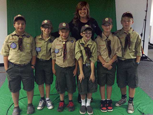 Cub Scout Pack 490 from Newhall toured the newsroom at The Signal Nov. 1. Alesia Humphries/courtesy photo