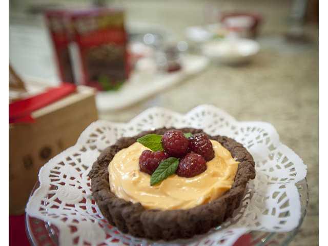 Merry Graham's Duncan Hines Sweet Stars award winning chocolate crusted tart.