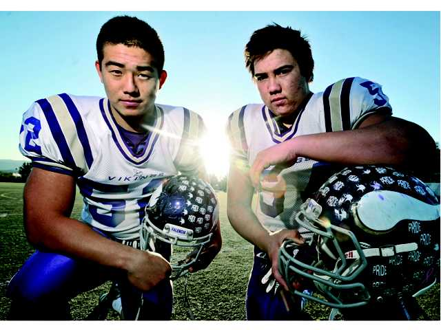 Valencia's Justin Son, left, and Jordan Nguyen have been best friends since junior high and have helped to lead the Vikings to their fifth Northern Division semifinal in the last six years.