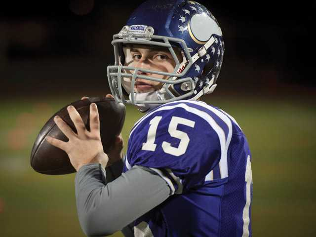 Valencia High senior quarterback Jake Wallace is second in the Southern Section in passing yards and led the Vikings to their fifth straight Foothill League championship. Now the question is, will he lead them to their first CIF championship?