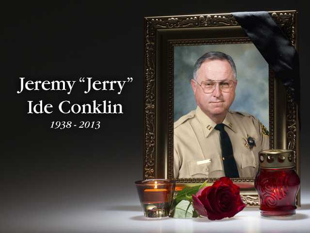 Memorial ceremony held Friday for former Santa Clarita Valley Sheriff's Station captain Jerry Conklin.