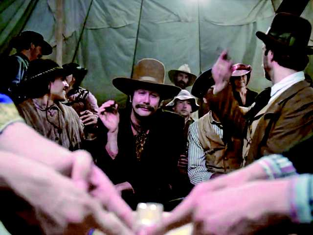 "This video still from Thornton's western film, ""Murder of Hi Good,"" was shot on 35MM and directed by Lee Lynch in 2012."
