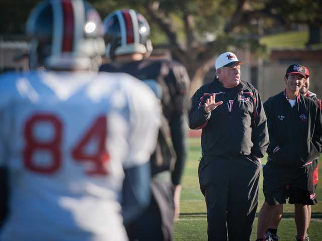 Hart football head coach Mike Herrington, 55, has guided Hart to seven CIF championships in his 25 years as head coach.