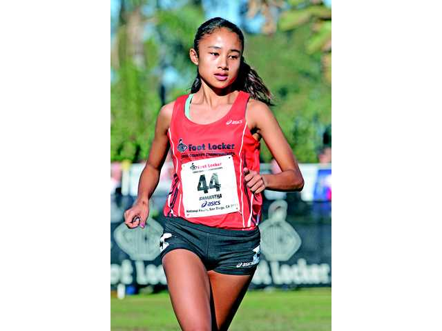 Saugus junior Samantha Ortega runs the course at the Foot Locker Cross Country National Championship in San Diego on Saturday.