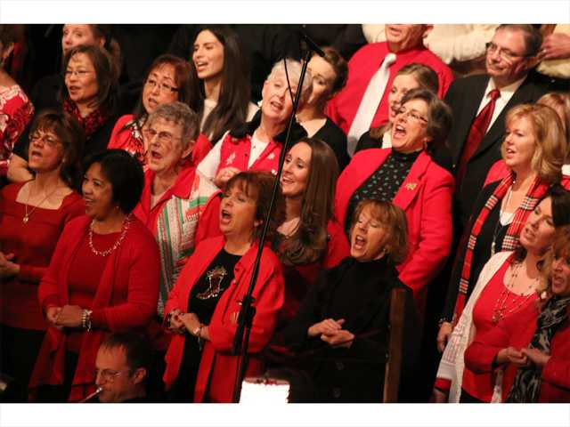 Sanctuary Choir members sing during the the Christmas concert at Grace Baptist Church. Courtesy photo from Stan Elrich.