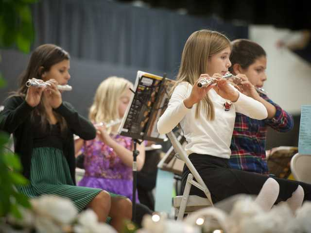 Elementary school children from the Newhall School District perform for the 2013 Winter Concert on Tuesday at Pico Canyon Elementary School. Signal photo by Charlie Kaijo.