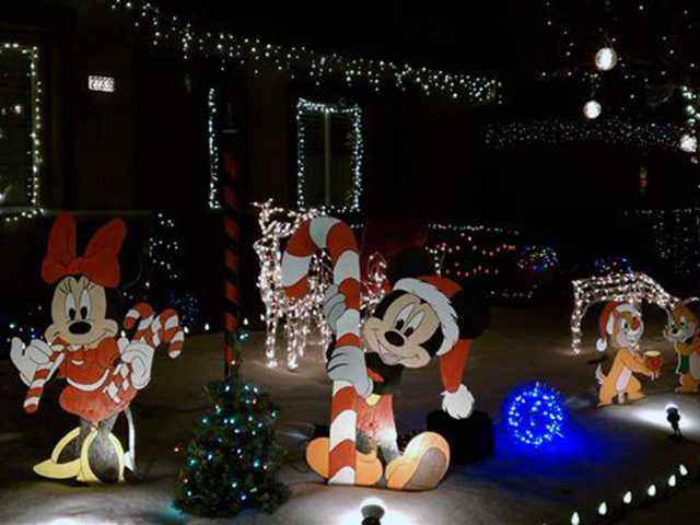 "Saugus: The ""Homestead Holiday"" on Espinoza Drive in Saugus features homemade wooden animation characters."