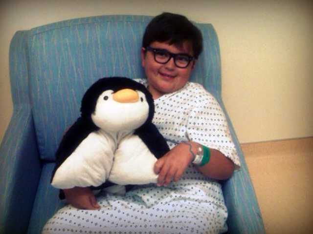 Stevenson Ranch resident Jess Dering's oldest son, Hayden, poses with a stuffed animal. Courtesy photo