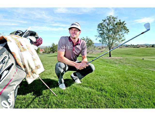 Golfer Matt Ryan at TPC on Friday. Ryan graduated from Hart in 2004 and attended College of the Canyons for one year.