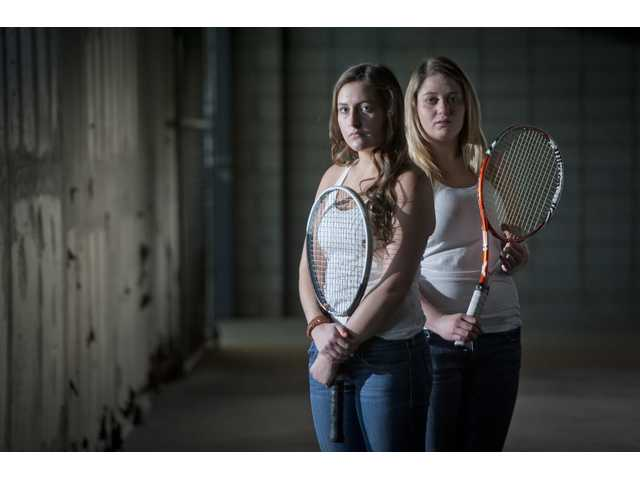 Valencia juniors Tina Inchalik and Remy Balmain never lost to a Foothill League opponent in 2013.