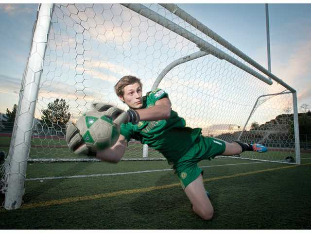 Valencia senior goalkeeper Cole Murphy served as Valencia football's place kicker the last two years.