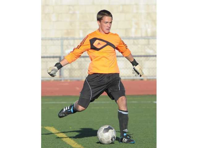 Saugus goalkeeper Noah Maynard returns as a top player in the Foothill League this year.