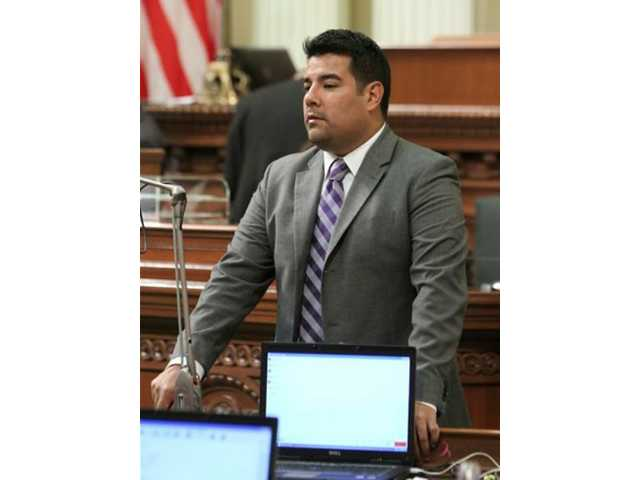This Aug. 31, 2011 file photo shows Assemblyman Ricardo Lara, D-Bell Gardens at the Capitol in Sacramento, Calif. Immigrants who are in California illegally should have access to health insurance through a state version of the Affordable Care Act, Lara, the head of the Legislature's Latino caucus said Friday Jan. 10, 2014.