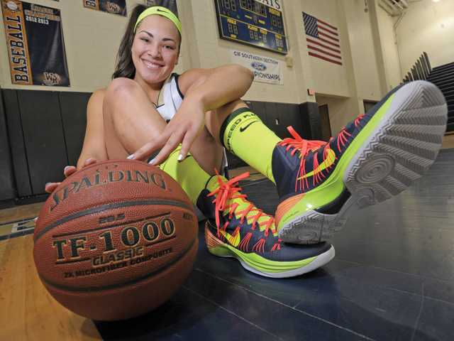West Ranch senior Whitney Branham is in her fourth year as a starter on the Wildcats varsity girls basketball team. She is one of the premier players in the SCV.