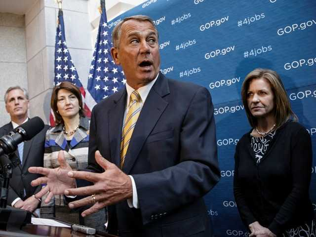 Speaker of the House John Boehner, R-Ohio, said he'd support an emergency drought-relief bill for California after touring a dusty field outside Bakersfield.