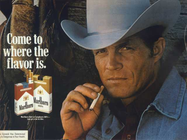 In this undated photo courtesy of Susan Lawson shows Eric Lawson. Lawson, who portrayed the rugged Marlboro man in cigarette ads during the late 1970s, has died. He was 72.