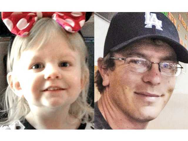 Two-year-old Shae Rebel, left, and her father Jesse Rebel, right.