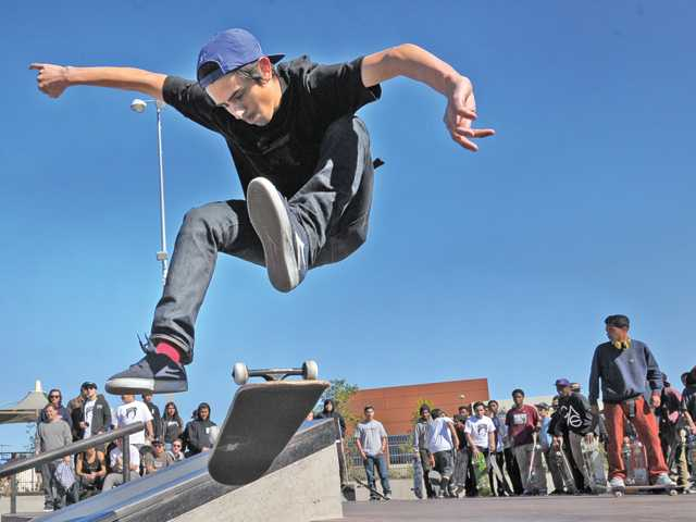 Jorge Ramirez, 21, competes in the Best Trick Competition.