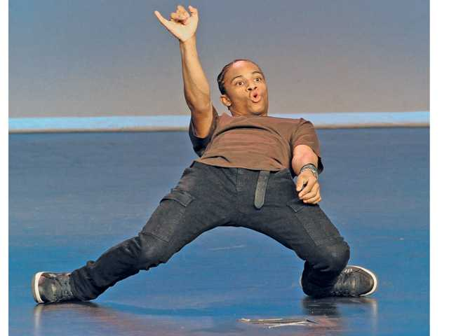 "Last year's ""So You Think You Can Dance"" contest winner, Fik-Shun performs on stage at the second annual ""A Starry, Starry Night"" WiSH Education Foundation fundraiser held at West Ranch High School on Saturday night."