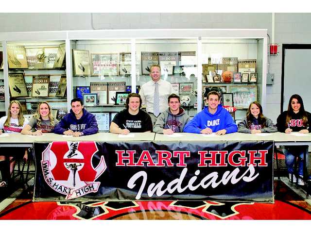 Local athletes make it official