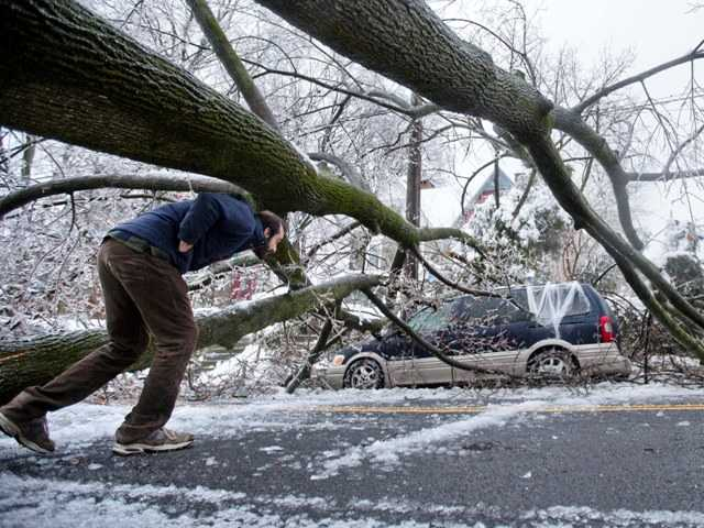 Extreme cold in much of the U.S. has caused a shortage of natural gas supplies to Southern California power plants. Above, an ice covered tree fell in Philadelphia Wednesday.