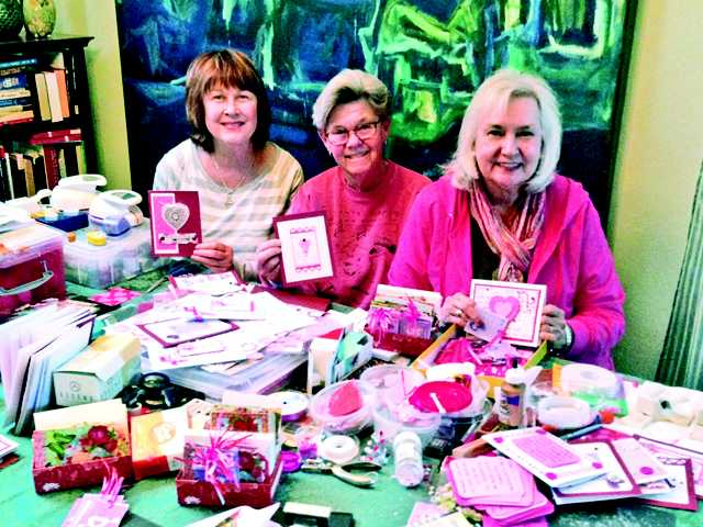 A small group of women from St. Stephen's Episcopal Church decided to spread God's love and Valentine's Day cheer to the residents of Canterbury Village Senior Center by creating more than 130 handmade cards for residents and church members.