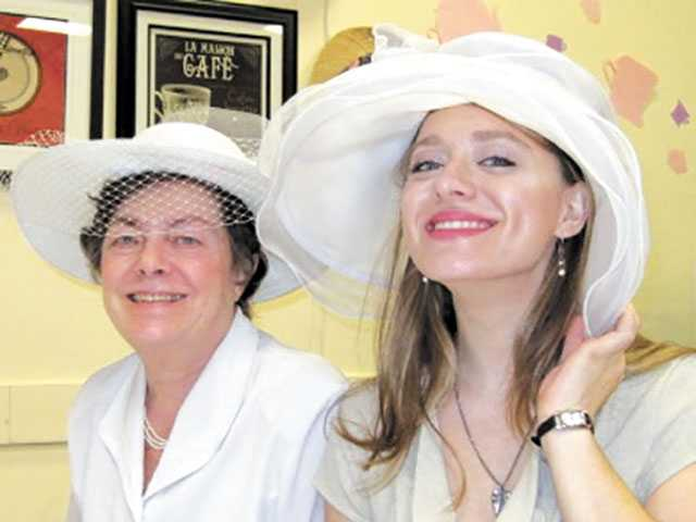 The SCV Senior Center had a Tea Tasting Party complete with a Best Hat contest.  Courtesy photo posted on The Signal's photo gallery
