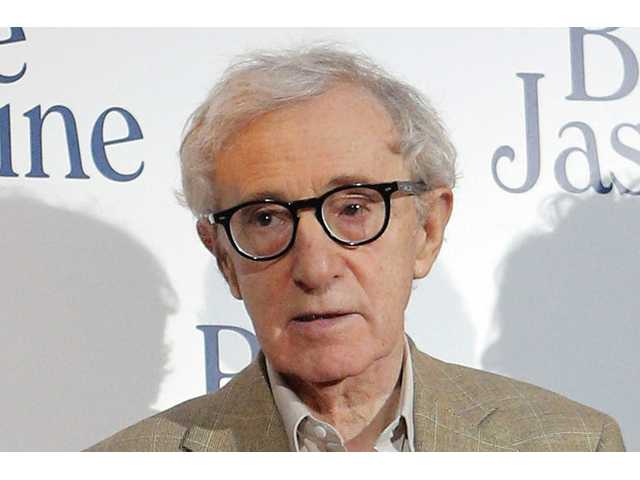 "This Aug. 27, 2013 file photo shows director and actor Woody Allen at the French premiere of ""Blue Jasmine,"" in Paris."