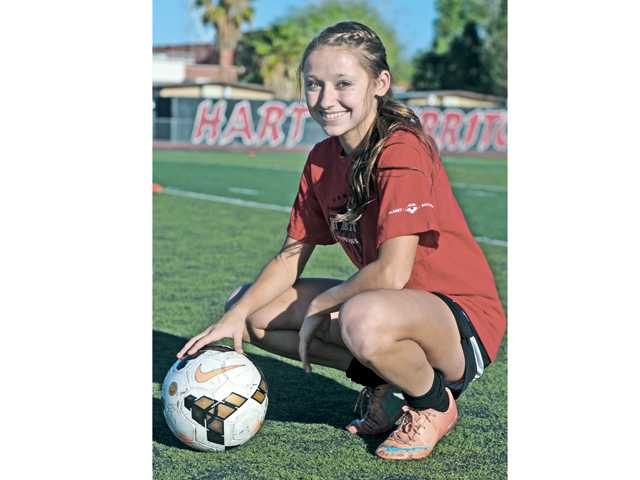Hart senior Sophie Cortes is the anchor of a team with a chance to win a Foothill League title.