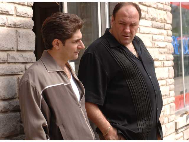 "Michael Imperioli, James Gandolfini in ""The Sopranos."" Christian pastors often find religious messages in popular television shows."