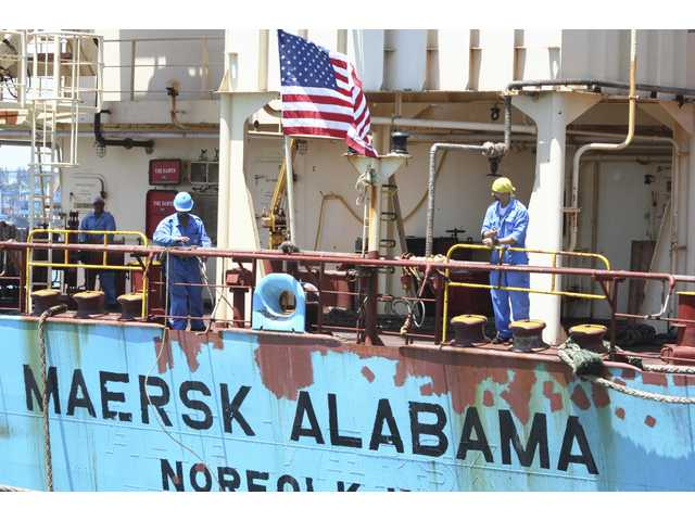 "Two former Navy SEALs were found dead Tuesday in a cabin on the Maersk Alabama, the ship hijacked by pirates in 2009, an event dramatized in the movie ""Captain Phillips"" starring Tom Hanks."