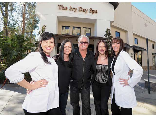 From left, Dede Switzer, clinical esthetician, Christina LaFayette, spa supervisor, Eric Smith, owner, Wendy Whitehead, spa director, and Cynthia Smith, clinical esthetician.