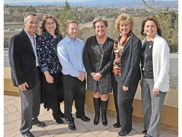 From left, Alan DiFatta, Kathy Norris, Chris Chapleau, Jeanne Duarte, Jill Mellady, Andrea McAfee of the Valley Industry Association.