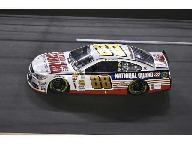 Dale Earnhardt Jr. (88) races during the Daytona 500 Sprint Cup race in Daytona Beach, Fla. on Sunday.