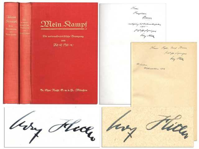 'Mein Kampf' signed by Hitler sold at auction