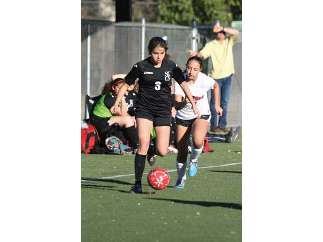Santa Clarita Christian junior forward Lauren Gallagher has scored 46 goals this season. Shawn Gale/Courtesy photo