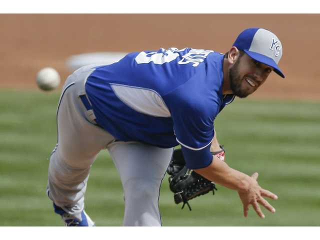 Kansas City Royals pitcher and Hart graduate James Shields throws to the Arizona Diamondbacks during a spring training game on Wednesday in Scottsdale, Ariz.